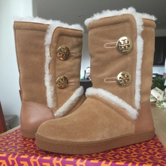 3e7869e48a9 Tory Burch Ginger split suede winter boots. M 58a8c2ff36d59465d1113f0c
