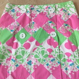 Lilly Pulitzer Dresses & Skirts - ✨Lilly Pulitzer✨ Size 10✨Wrap button skirt✨NWOT✨