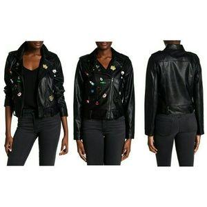 Bagatelle  Jackets & Blazers - Bagatelle black faux leather moto biker jacket S