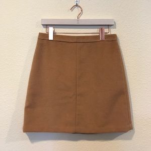 NWOT camel wool lined pencil skirt