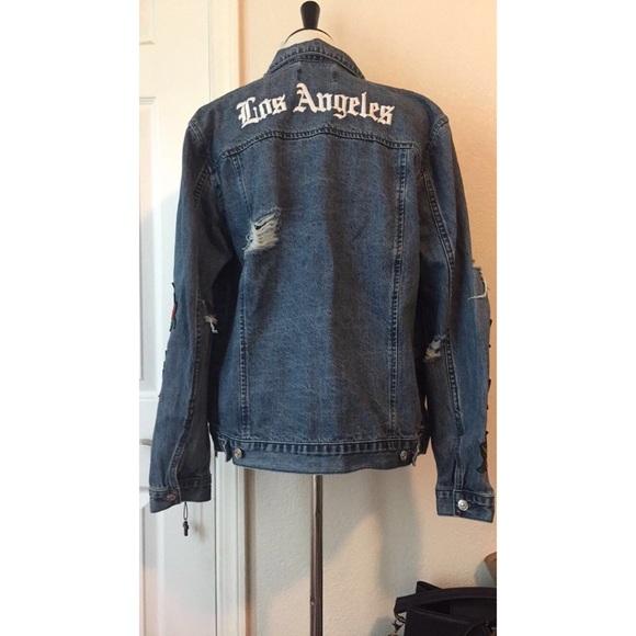Pacsun Jackets Coats Last One Los Angeles Rose Oversized Denim