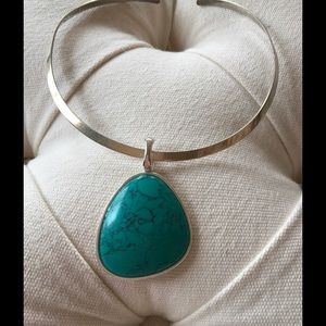 Turquoise &a Silver Pendent