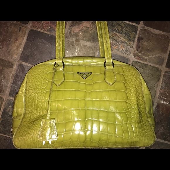 Bags   Authentic Prada Alligator Handbag   Poshmark a4dd780015