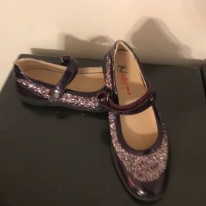 Naturino Other - NATURINO Girls purple glitter Mary Janes 34 3.5