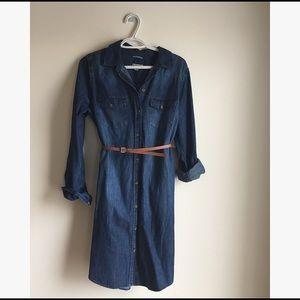 NWT Merona long sleeve denim/chambray dress
