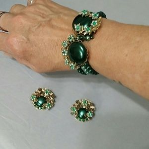 Jewelry - Elegant Vintage Bracelet & Earring Set