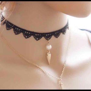 2 pieces choker necklace