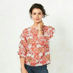LC Lauren Conrad Tops - Ruffle sleeve blouse. Offers are welcome.
