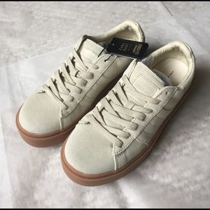 Zara Shoes Nwt Leather Sneakers With Chunky Sole Poshmark