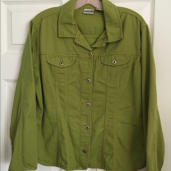 75% off Chico's Jackets & Blazers - Chico's lime green denim ...