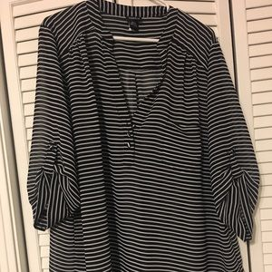 Torrid stripped sheer blouse