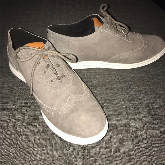 de64531d24 Cole Haan Misha Oxford 6 1/2 Gray Suede Shoes