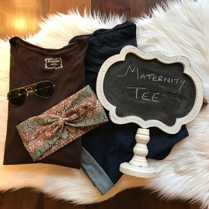 Motherhood Maternity Tops - Brown Maternity Tee Shirt