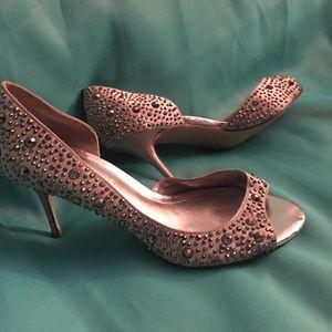 Swarovski crystal Aldo Cinderella heels sparkle