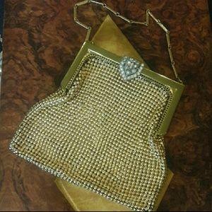 Beautiful Vintage Gold Mesh Whiting Davis Bag