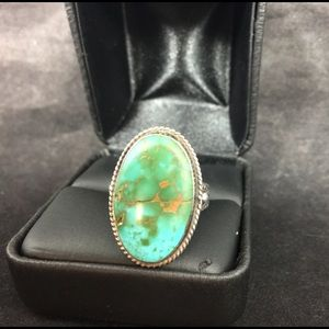 Native American Jewelry - Turquoise arrow ring
