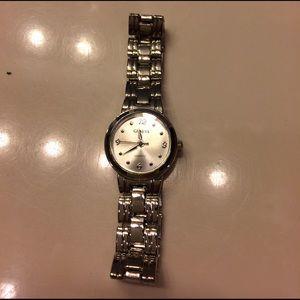 Geneva Platinum Accessories - Geneva quartz silver watch