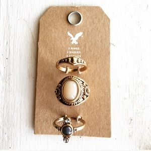 American Eagle Outfitters Jewelry - Set of 3 Boho Rings