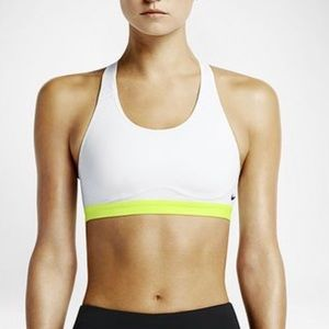 White Nike Pro Fierce Women's Sports Bra