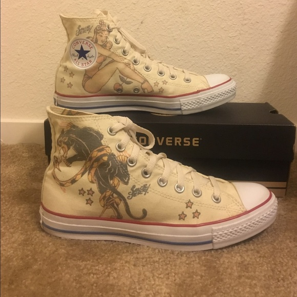 c3787c57ebd6 Converse Shoes - Limited Edition Sailor Jerry Converse High Tops