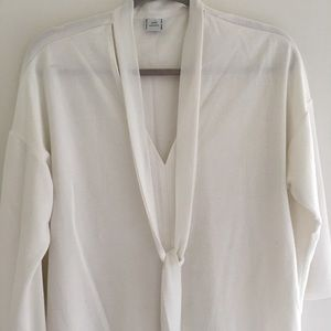 Zara Blouse - White with Necktie