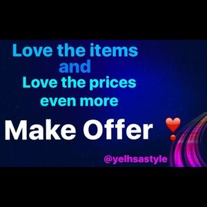 💓MAKE OFFER💓 I want everyone to be happy!!!