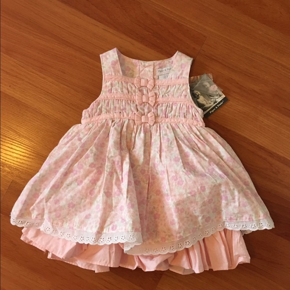 08369cc21aa NWT Piper   Posie Pink Floral Dress 0-3 months
