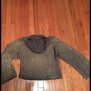 bebe Sweaters - Bebe metallic cropped sweater