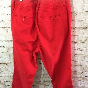 J. Crew Pants - NWOT J.CREW RED CROP CHINO