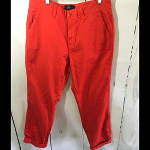 NWOT J.CREW RED CROP CHINO