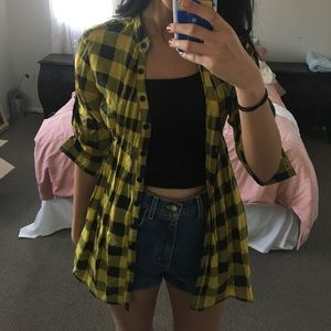 Black and yellow flannel from urban outfitters