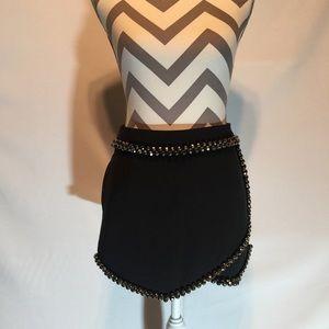  •NWT• Bejeweled Asymmetrical Skirt