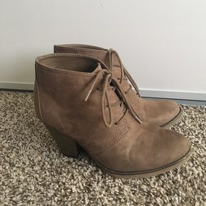 MIA Shoes - 🎉SALE🎉Mia / Taupe Suede Bootie
