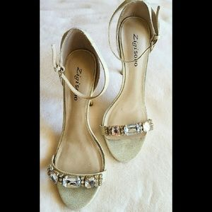 Zigi Soho Shoes - Zigi Soho Magdalena Gold Heels