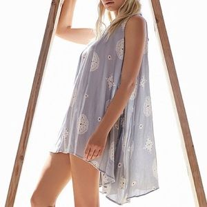 Free People sleeveless retro print tunic