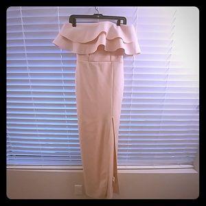 ASOS Bandeau Dress in Blush