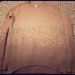 H&M rose gold sparkly sweater - NWOT