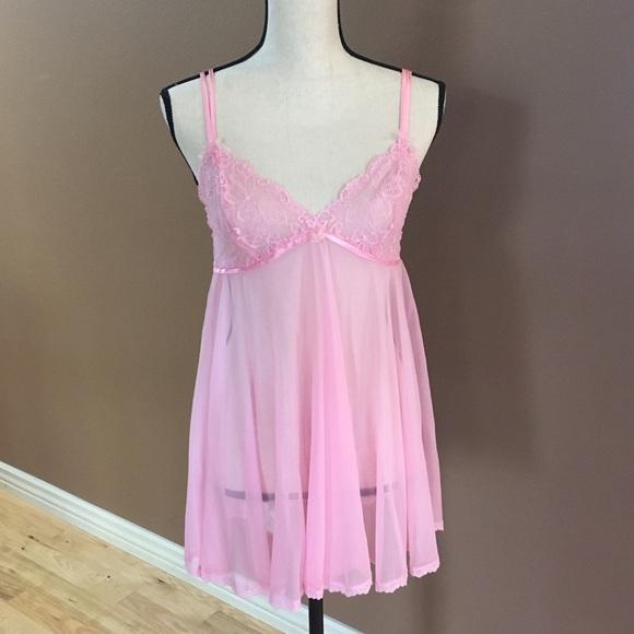68553849084 Betsey Johnson Sheer Pink Nightie