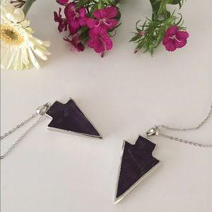 Amethyst Arrowhead Necklace