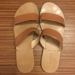 J. Crew Simple Leather Sandals in Brown