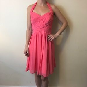 Bill Levkoff Dresses & Skirts - Bill Levkoff Coral Pink Halter Party Dress
