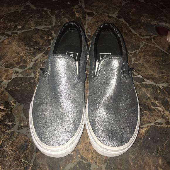 fd711cee6e Vans metallic silver slip ons very cool! M 58a8ef4b2599fe21f6024cf9