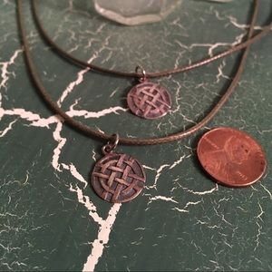 Sterling silver Celtic knot friendship necklaces