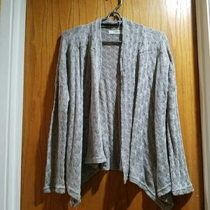 Romy Sweaters - Grey Lace Cardigan