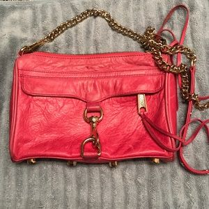 Rebecca Minkoff Handbags - Rebecca Minkoff Pink Mini MAC Crossbody Clutch