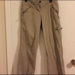 Tan colored size 8 New York & Company cargo pants