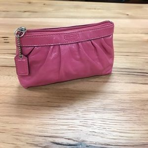 Coach pink pouch