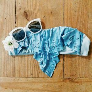 FINAL - CLEARANCEPeriwinkle Strapless Bikini Top