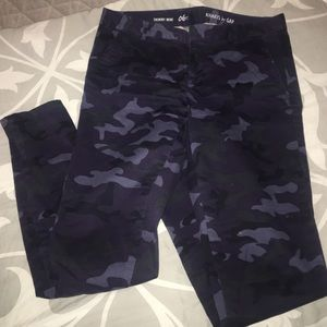 ceb22ff2fe5f4 GAP Pants | Blue Camo Skinny Mini 6 Tall Canouflage | Poshmark