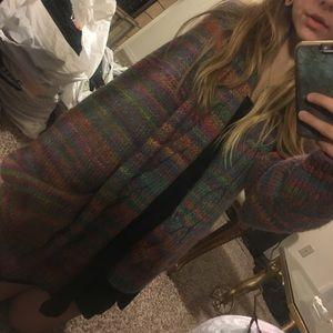 Rainbow knit cardigan 90s